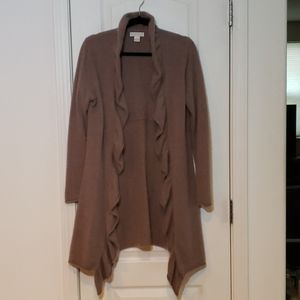 Kenar 100% Cashmere Soft Sweater Taupe Large